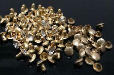 """Pkg of 10 Cz Golden Metal Rivet Studs 3/8"""" (10mm) Leather Crafts (1036)"""