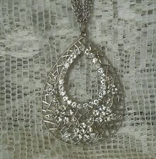 Enchanted Glass Rhinestone Necklace Remove Curses Dark Energy Protection Spell
