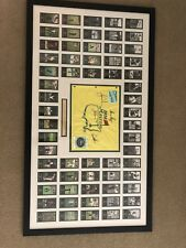 Arnold Palmer, Jack Nicklaus, Gary Player And Tiger Woods Framed Masters Flag