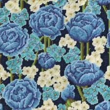 """Design Works Blue Roses Floral Needlepoint Kit 12"""" x 12"""" 12 Count NEW"""