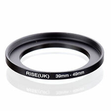 Camera 39mm Lens to 49mm Accessory Step Up Adapter Ring 39mm-49mm Black