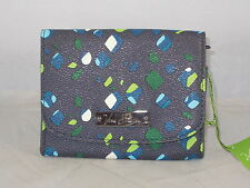 Vera Bradley BB COLLECTION INK SPOTS Flap Snap Petite Mini Wallet 13960-187 $38