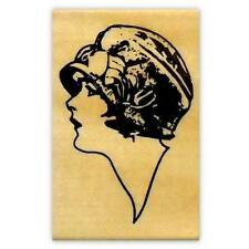 Lady Profile Mounted Rubber Stamp large - Art Deco Flapper Woman - Person #2