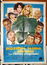 Gloria Guida MASCHIO LATINO... CERCASI manifesto originale 1976/77