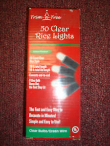RICE LIGHTS CLEAR 50 LIGHTS