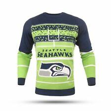 Seattle Seahawks NFL Stadium LED Light-up Ugly Sweater Forever Collectibles  XL 99d56e1bc