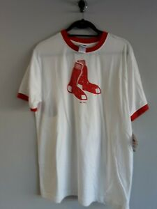 Vintage Boston Red Sox Majestic T Shirt  Size L  MLB New With Tags RARE!