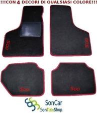 FIAT 500 epoca Tappeti Tappetini AUTO +4Ricami Colorati