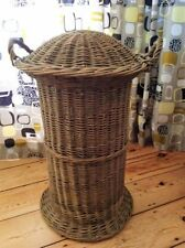 Unbranded Wicker Round Decorative Baskets with Lid