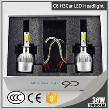 2Pcs H3 Led Headlight 6000K 36W 3800LM C6 Headlight Car Hi/Lo Beam Auto Bulbs L6