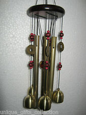 UNIQUE- FENG SHUI BRASS METAL & WOODEN WINDCHIME 4 POSITIVE ENERGY IN YOUR HOME