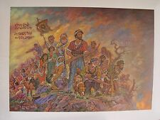 """""""MUSA DAGH"""" ARMENIAN HISTORY OIL PAINTING COPY BOUGHT FROM THE ARTIST DIRECTLY"""