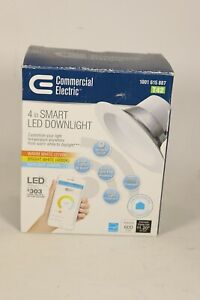 """Commercial Electric 4"""" Smart LED Dimmable Recessed Downlight 2700K-5000K"""