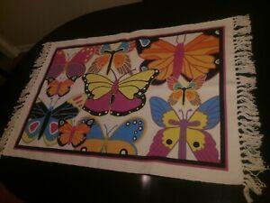 Butterflies Indoor Outdoor Area Rug Area Rugs For Sale Ebay