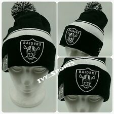 NFL Oakland Raiders New Era  Cuffed Knit Beanie with Pom