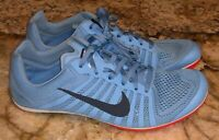 NIKE Zoom D Blue Track Distance Spikes Shoes NEW Mens Youth Sz 5.5 wmns equiv 7