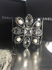NWT CHANEL $1925 2016 CC CUFF Lily Fantasy Pearl Dots Black Gold 16C Seoul Korea