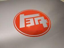 "2 pack 1930's Toyota TEQ Logo Vinyl Decal Sticker Gloss Orange 3"" 1/2 x 3"" 1/2"