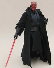 "MY-R-DM: FIGLot 1/12 Black Fabric Sith Cloak Robe for 6"" Star Wars Darth Maul"