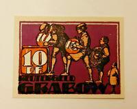 GRABOW REUTERGELD NOTGELD 10 PFENNIG 1921 NOTGELDSCHEIN (11857)