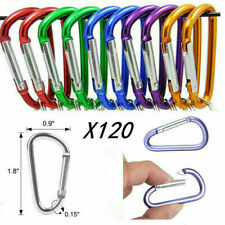 120 x Carabiner Clips D-Ring Keychain Snap Hook Camping Climbing Buckle Tool