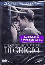 Dvd + Poster **50 CINQUANTA SFUMATURE DI GRIGIO** Versione Estesa nuovo 2015
