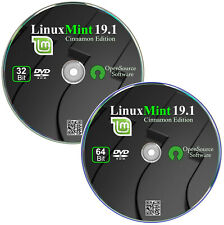 Das neue Linux Mint 19.1 Cinnamon   ✔ 2er DVD Set   32+64 Bit,  Live DVD
