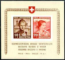 SCHWEIZ 1941 BLOCK6 ** POSTFRISCH PRO JUVENTUTE 110€(I1610