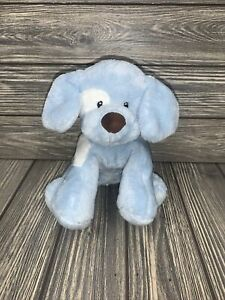 Baby Gund Spunky 58376  Blue White Puppy Dog Plush Plush Stuffed Animal