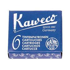 1x Kaweco 6 CARTUCHOS Tinta AZUL REAL de Estilográfica KA CART01 7015b azulreal