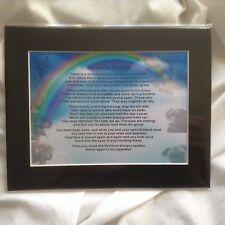 Personalised Mounted Poem Print - Rainbow Bridge Poem -  Dogs  Design