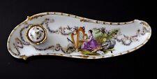 Encrier porcelaine saxe meissen peint harpe Old porcelain anges inkwell XIX