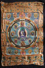 Ancienne Tangka représentant Siddhartha Gautama culture bouddhiste tibét chine