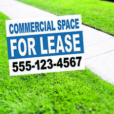 Commercial Space For Lease Plastic Novelty Indoor Outdoor Coroplast Yard Sign