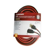 Husky SJTW Extension Cord Electric Heavy Duty Cable 100 ft 16/3 10 Amp