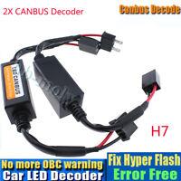 2x H7 LED Headlight Canbus Error Free Warning Resistors Decoder Anti Flicker 12V