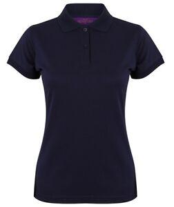 Henbury Coolplus Wicking Ladies Polo Shirt Short Pique Sleeve  H476  - Medium