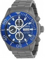 New Invicta 23376 Blue Dial Valjoux 7750 Automatic Chronograph Titanium Watch