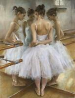 Ballet Dancer Reflection Stretched Canvas Wall Art Poster Print Dancing Dance