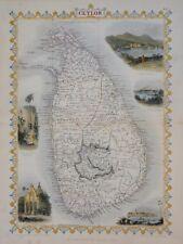 SRI LANKA - CEYLON BY JOHN TALLIS 1850.
