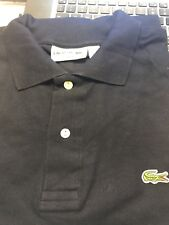 NEW Lacoste Men's Polo Shirt in Navy Blue Size 6 (Large) Regular Fit
