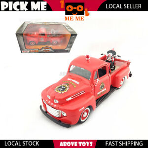 MAISTO Harley Davidson 1948 Ford F-1 pick Up 36 Knucklehead Red scale 1:24 model