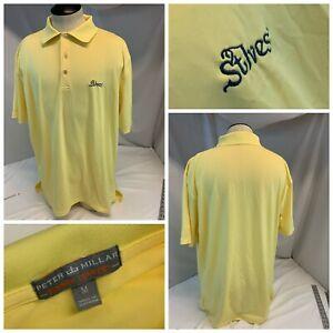 St. Ives Peter Millar Summer Comfort Polo Golf Shirt M Yellow Poly YGI H1-261