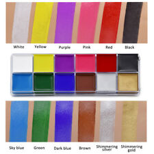 12 Colors Non-Toxic Face Body Painting Color Pigment Temporary Body Paint Art