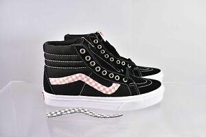 VANS Women's SK8-HI Reissue Checkerboard Side Stripe Sneakers VN0A2XSBSW2 Black