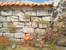 Mauer mit Tondachziegel, Krippenbau, Krippe selber bauen, Bausatz