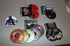 Vintage Playstation Games Star Wars Riven Driver Resident Evil Knockout Kings