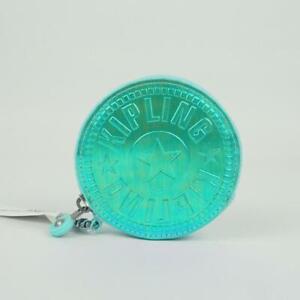 KIPLING MARGUERITE O GLOW Zip Pouch Coin Purse Fresh Teal
