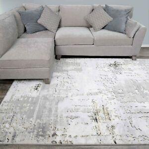 Gold Luxe Grey Distressed Worn Look Rugs Light Metallic Sheen Carpet Rug Shimmer