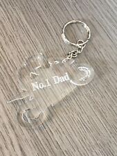 fathers day keyring no 1 dad biker dad motorbike personalised best dad top daddy